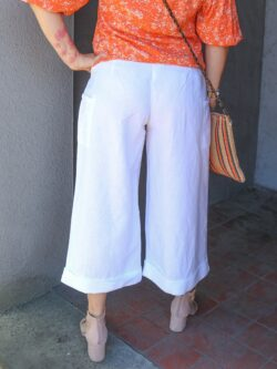 White Wide Leg Cargo Pant – ON SALE!