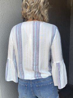Pastel Stripe Top w/Front Tie