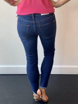 Ankle Skinny Jean, Frayed Knotched Hem