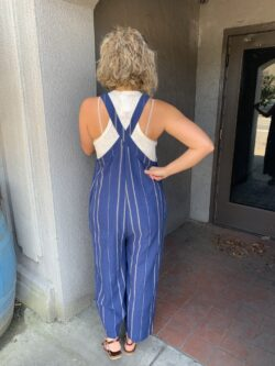 Navy Stripe Jumpsuit – ON SALE!