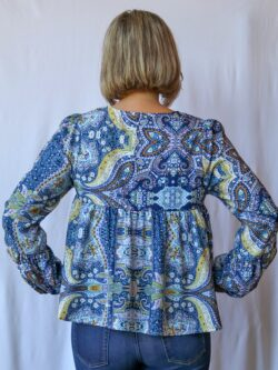 Boho Split Neck Blouse-ON SALE!