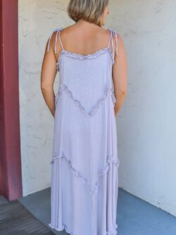 Lavender Ruffle Maxi Dress – ON SALE!