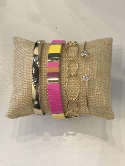 Summer Pink Stretch Bracelet