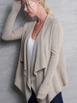 Open Front Cardigan – Oatmeal