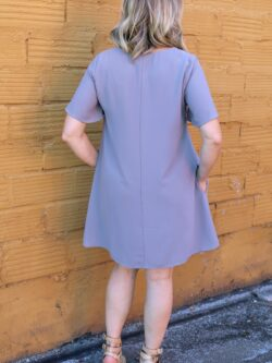 Short Sleeve Dress,  Cool Grey