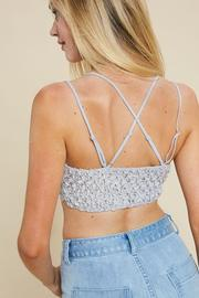 Double Strap Lace Bralette – Ice Blue