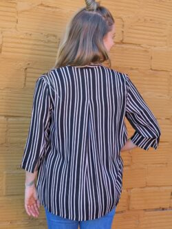 Black and White Stripe Blazer – ON SALE!