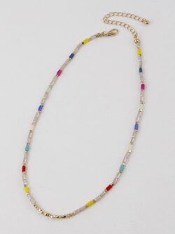 Bits Of  Color Beaded Necklace