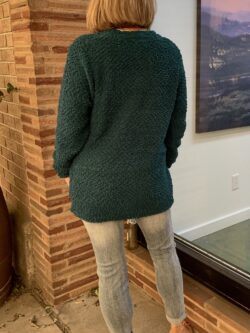 Popcorn Button Down Cardigan/Green