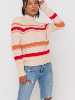 Multi Stripe Knit Pullover – ON SALE !