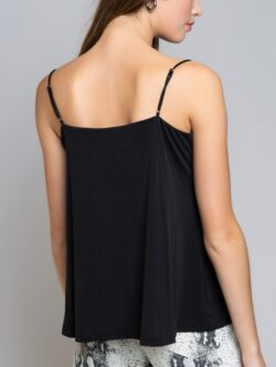 Drape Front Cami, Black …On Sale!