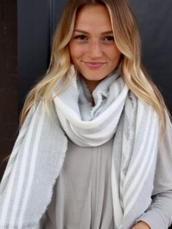 Gorgeous Grey/Off White  Oblong Scarf