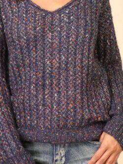 Navy Speck Sweater