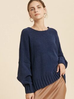 Open Back Sweater,  Navy