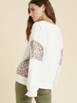 Ivory Combo Pullover