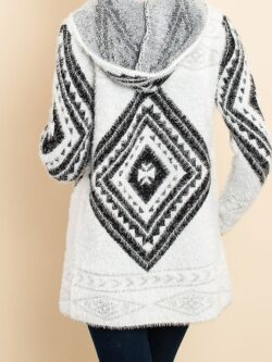 Tribal Print Eyelash Cardigan