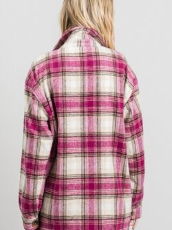 Boyfriend Plaid Flannel, Berry Mix