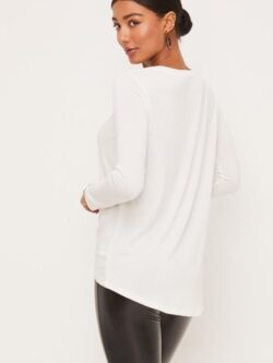 Knotted Front Top, White