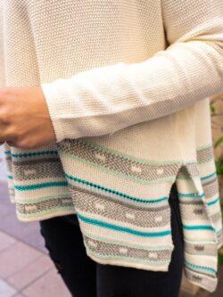 Dolman Sleeve Wide Stripe Pullover