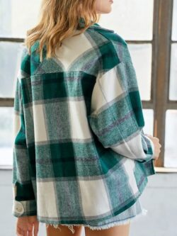 Green Plaid Shacket