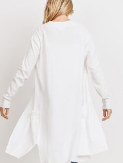 Lightweight Long Cardigan, White