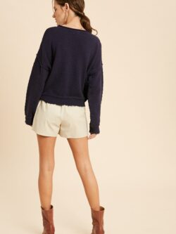 Textured Sweater, Navy