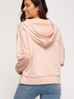 French Terry Hoodie, Peach