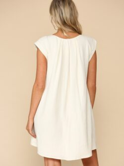 Gauze Cap Sleeve Dress