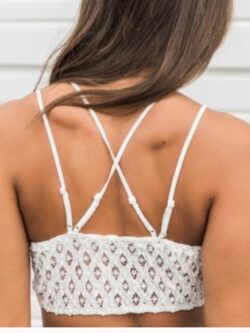 Double Strap Lace Bralette, Off White