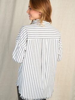 Pin Stripe Button Front