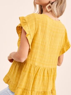 Sunflower Crinkle Cotton Top