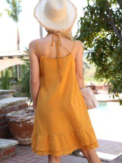 Ruffle Tank Dress – Marigold
