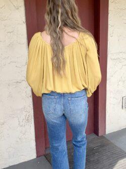 Off The Shoulder Blouse, Marigold