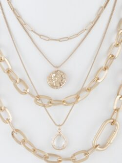 Multi Layered Necklace, Gold