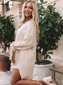 Oversized Cotton Button Down, Oatmeal
