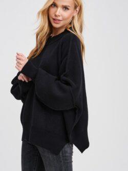 Round Neck Sweater, Black