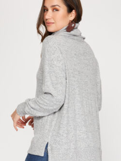 Marbled Grey Sweater w/Front Seam