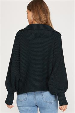 Collared Chunky Knit Sweater