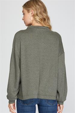 French Terry Knit Pullover