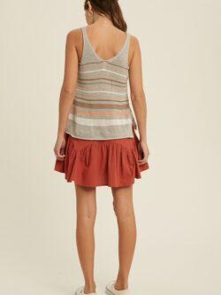 Grey Multi Stripe Sleeveless